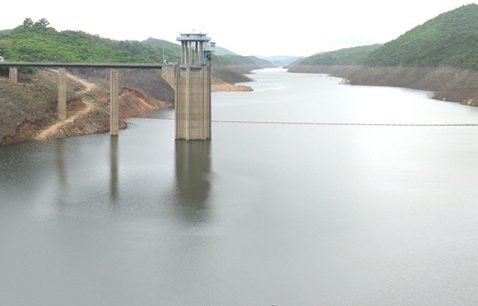 Reservoir of the Bumbuna hydroelectric dam